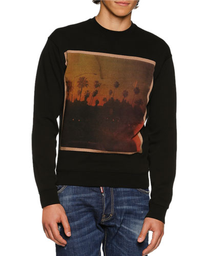 American Road Trip Graphic Sweatshirt, Black