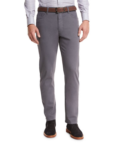 ZW Five-Pocket Pants, Slate Gray