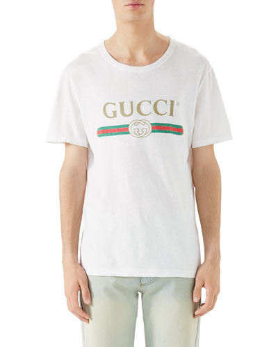 57f658fa Washed T-Shirt w/GG Print, White Quick Look. Gucci