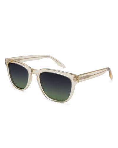 Men's Coltrane Square Acetate Sunglasses, Champagne