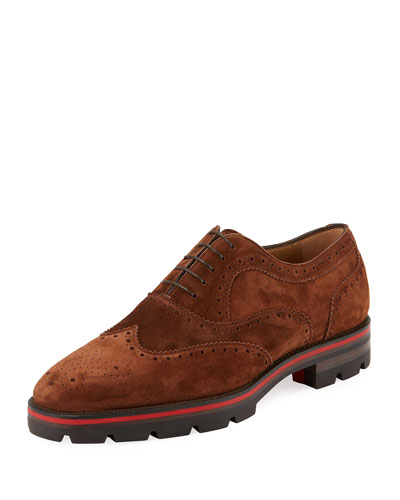 Charli Me Men's Suede Brogue Oxford