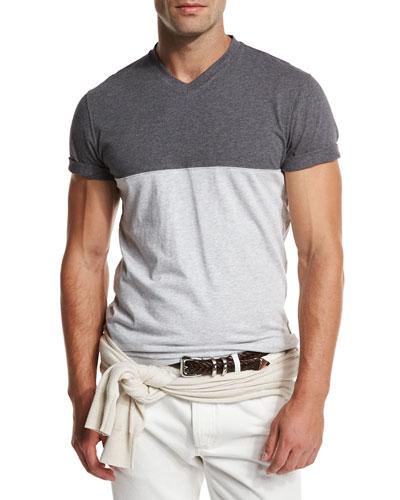 Colorblock V-Neck T-Shirt