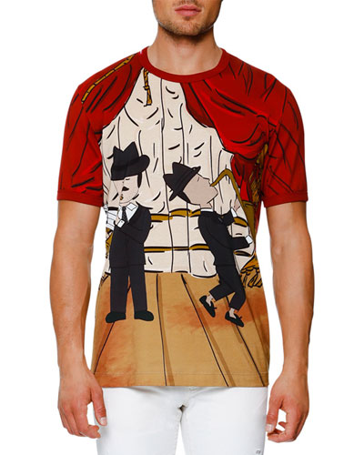 Jazz-Print T-Shirt, Red