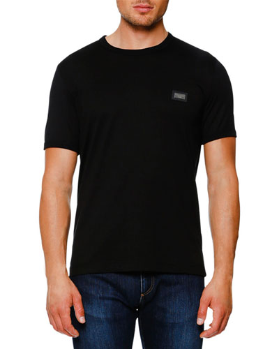 Logo Placket T-Shirt, Black
