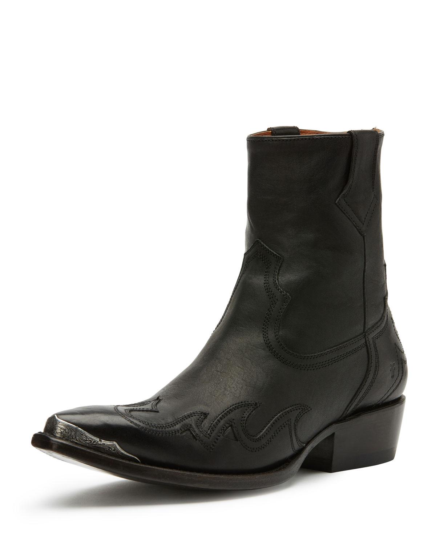 Lou Metal-Toe Western Boot, Black