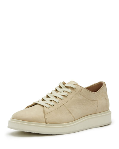 Men's Mercer Leather Low-Top Sneaker, White