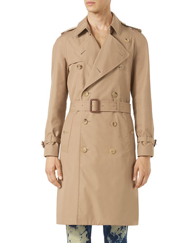 Tiger Embroidered Trenchcoat, Neutral Pattern
