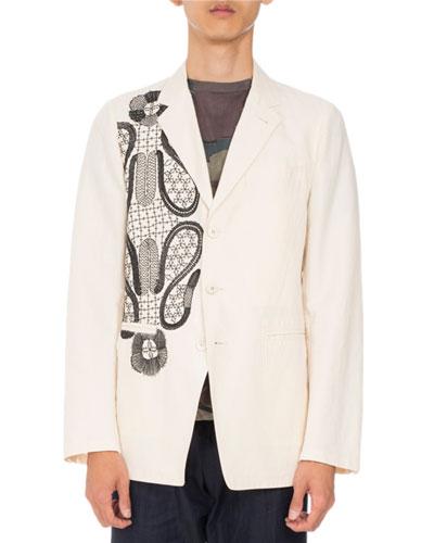 Bilboa Embroidered Jacket, Tan