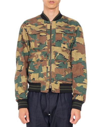 Varsy Reversible Bomber Jacket, Khaki