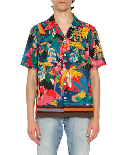 Tropical Short-Sleeve Shirt, Multicolor
