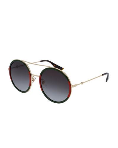 fa65eff8d3 Web Round Sunglasses