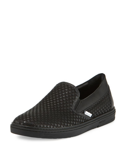 Grove Men's Rubber Star Slip-On Sneaker, Black