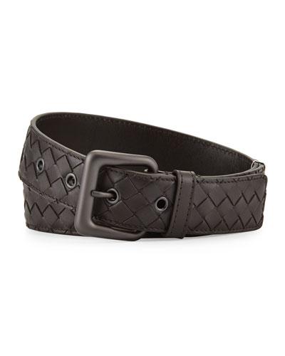 Men's Intrecciato Leather Belt