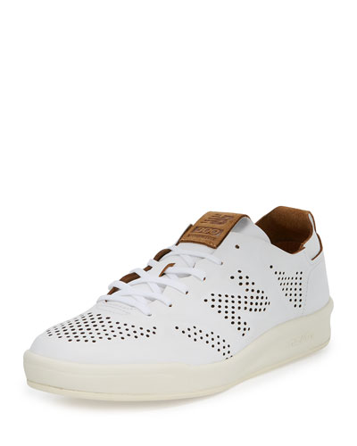 Men's 300 Deconstructed Leather Low-Top Sneaker, White