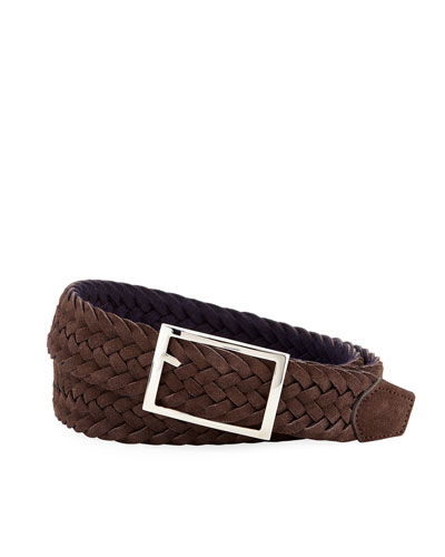 Men's Reversible Suede & Wool Felt Belt