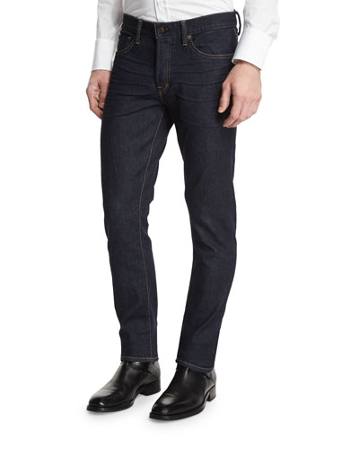 Slim-Fit Stretch Denim Jeans, Indigo