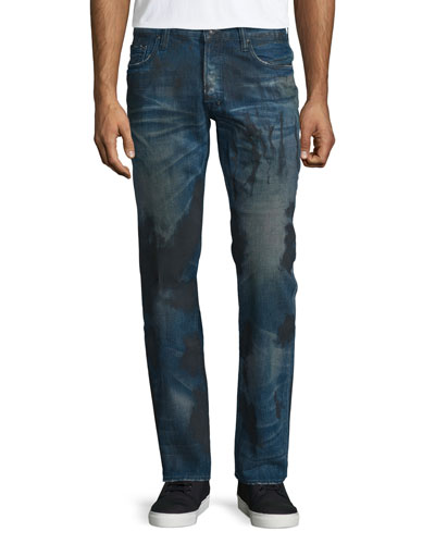 Barracuda Dirty-Wash Denim Jeans, Blue