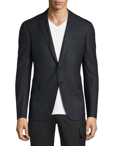 Nigel Windowpane Sport Coat, Gray