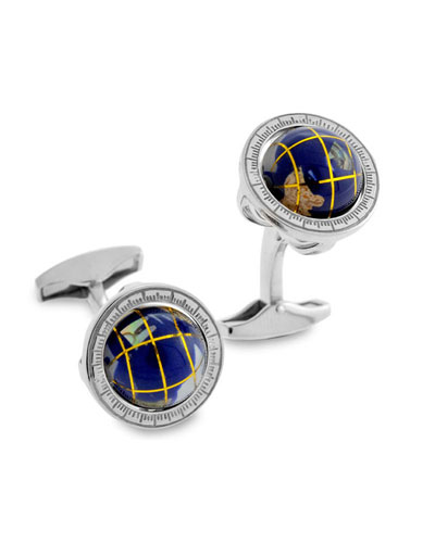 Blue Lapis Globe Cuff Links