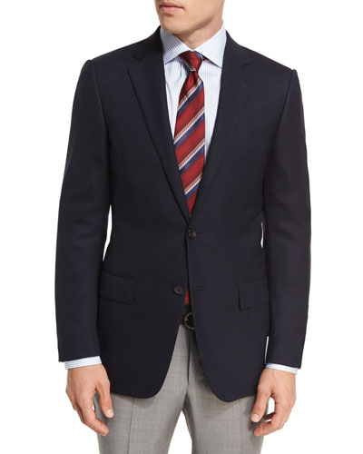 Milano Easy Fit Cool Effect Wool Sport Coat, Navy