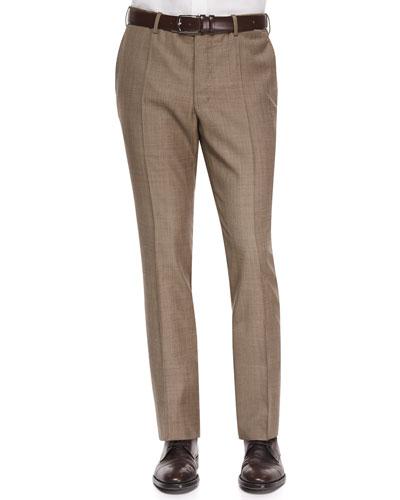 Benson Sharkskin Wool Trousers