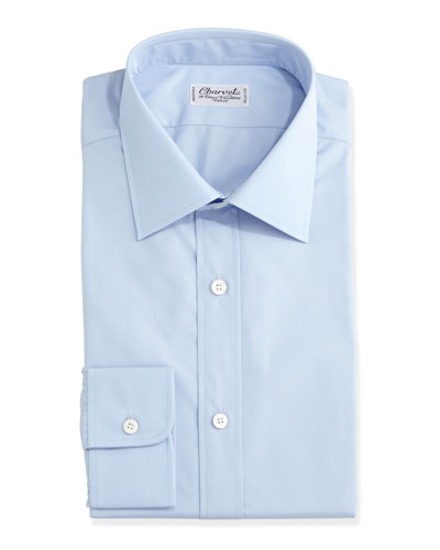 Solid Poplin Dress Shirt
