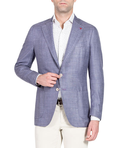 Textured Wool-Blend Blazer