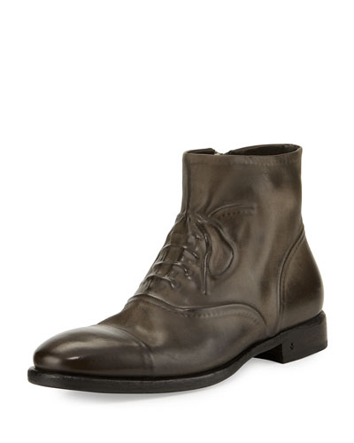 Fleetwood Ghosted Lace-Up Ankle Boot, Gray