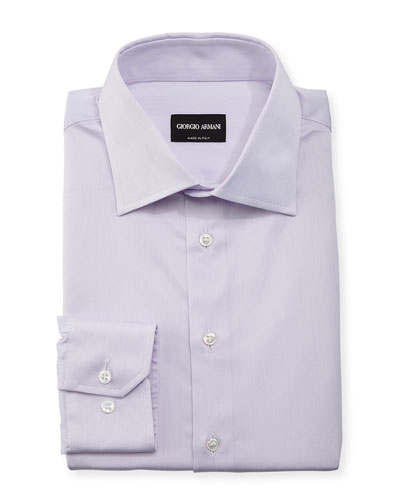 Tonal Micro-Stripe Long-Sleeve Dress Shirt
