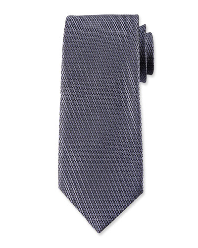 Micro-Pattern Silk Tie, Purple