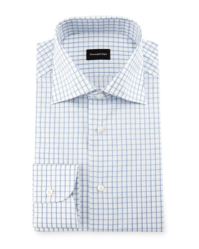 Double-Box Check Dress Shirt