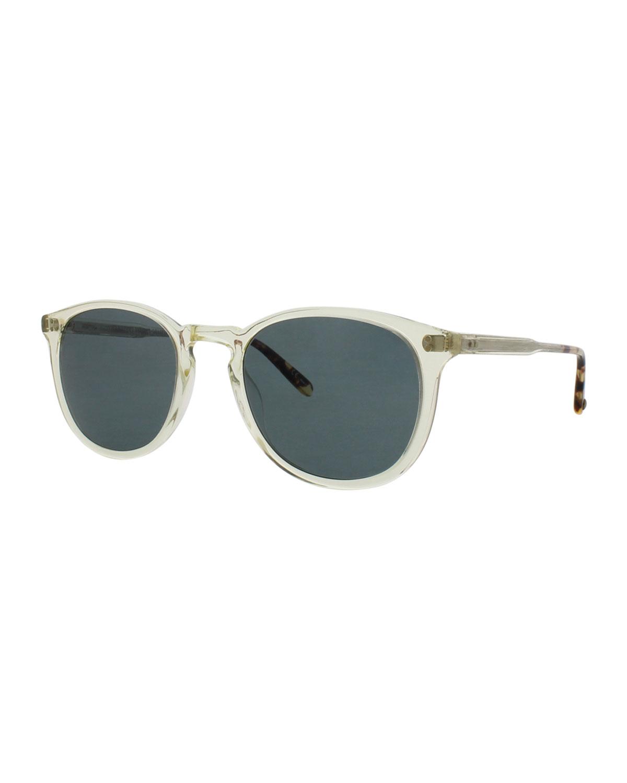 Kinney 49 Square Polarized Sunglasses, Champagne/Champagne Dark Tortoise Fade