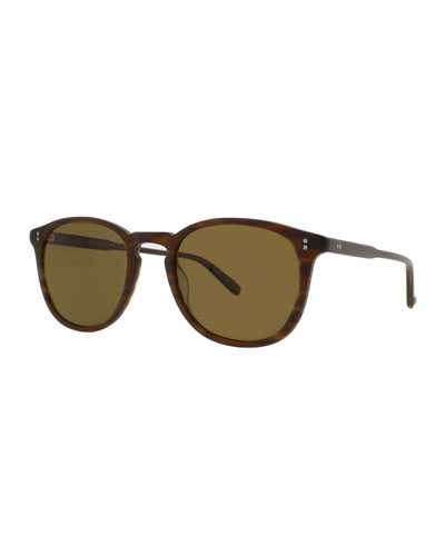 Kinney 49 Square Polarized Sunglasses, Matte Brandy Tortoise