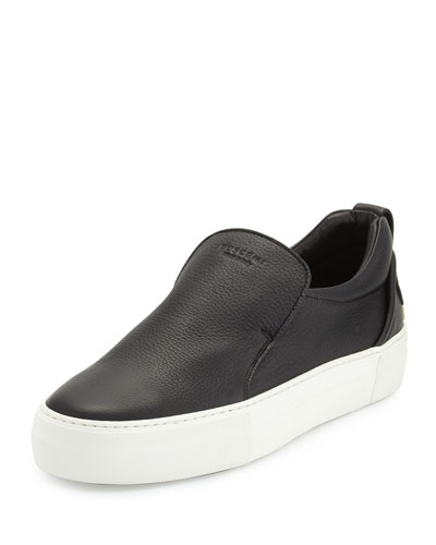 40mm Men's Leather Slip-On Sneakers
