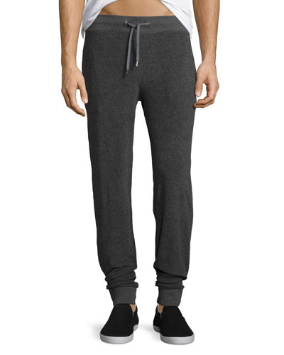 Beagi Toweling Terrycloth Sweatpants, Gray