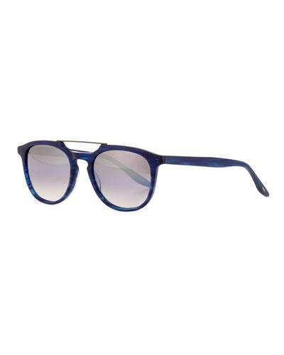 Men's Rainey Rectangular Top-Bar Sunglasses