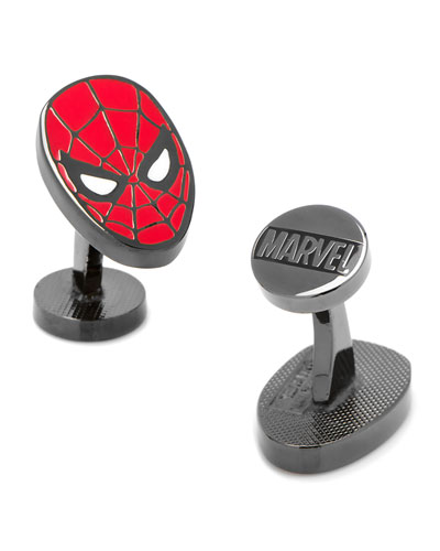Spider-Man Head Cuff Links