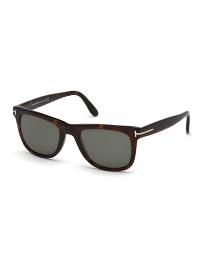 Leo Polarized Universal-Fit Sunglasses, Havana