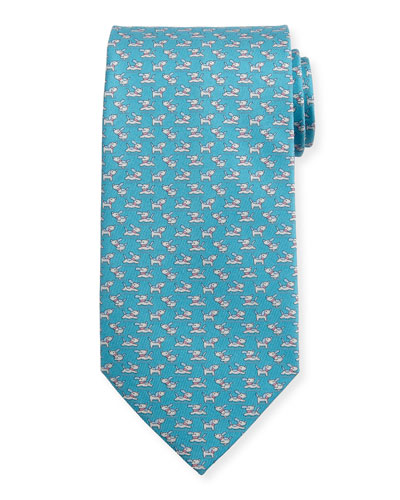 Running Dog Silk Tie