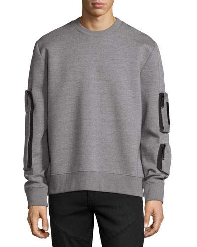 Neoprene Pocket Sweatshirt, Gray