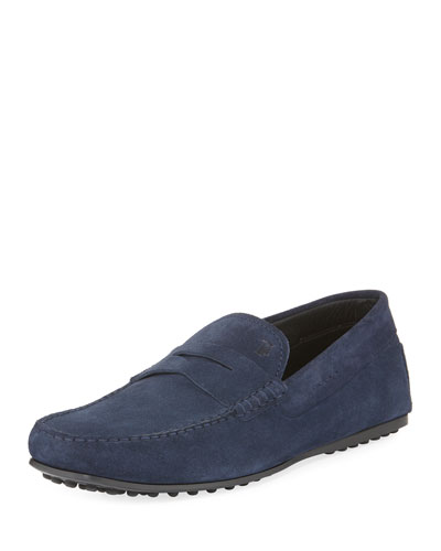 City Gommini Suede Penny Loafer