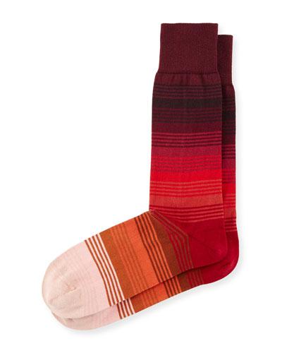 Gradient Multi-Striped Socks