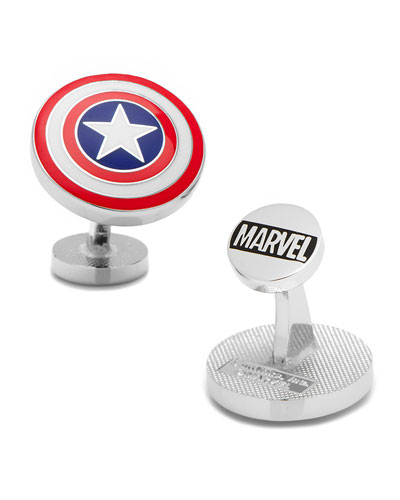 Captain American Shield Cuff Links