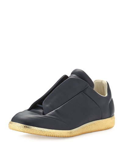 Future Leather Low-Top Sneaker with Golden Sole