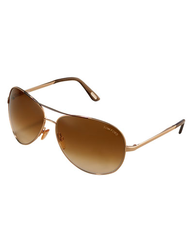 CHARLES ROSE GOLD SUNGLASSES