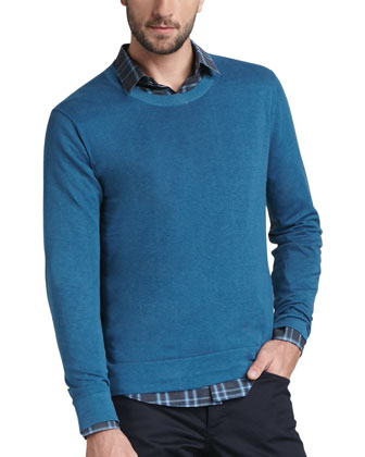 Men's Theory Cotton-cashmere Sweater, Flu