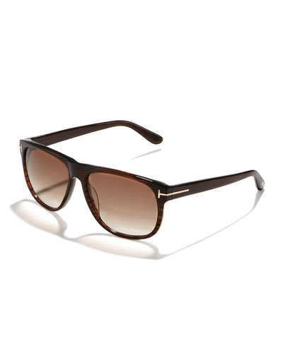 Olivier Plastic Sunglasses, Brown
