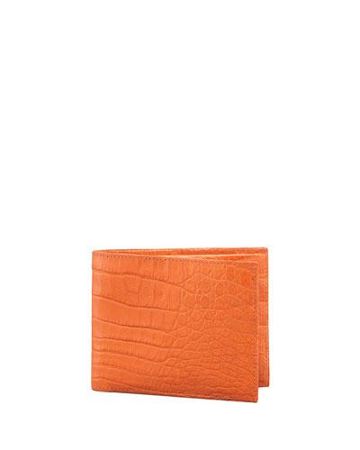 Crocodile Wallet, Orange