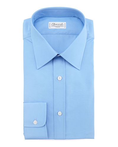Barrel-Cuff Poplin Shirt