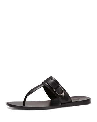 Karel Leather Thong Sandal
